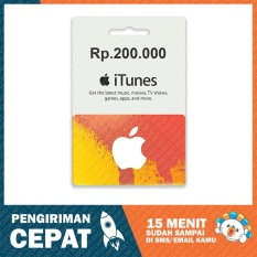 Apple Itunes Gift Card Region Indonesia Rp. 200.000 By Itunes Indonesia.