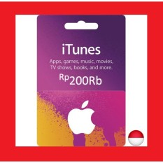 Apple iTunes Gift Card Region Indonesia Rp. 200.000 - IGC Indonesia
