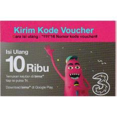 Pulsa Tri 10rb -Dikirim Kode Voucher