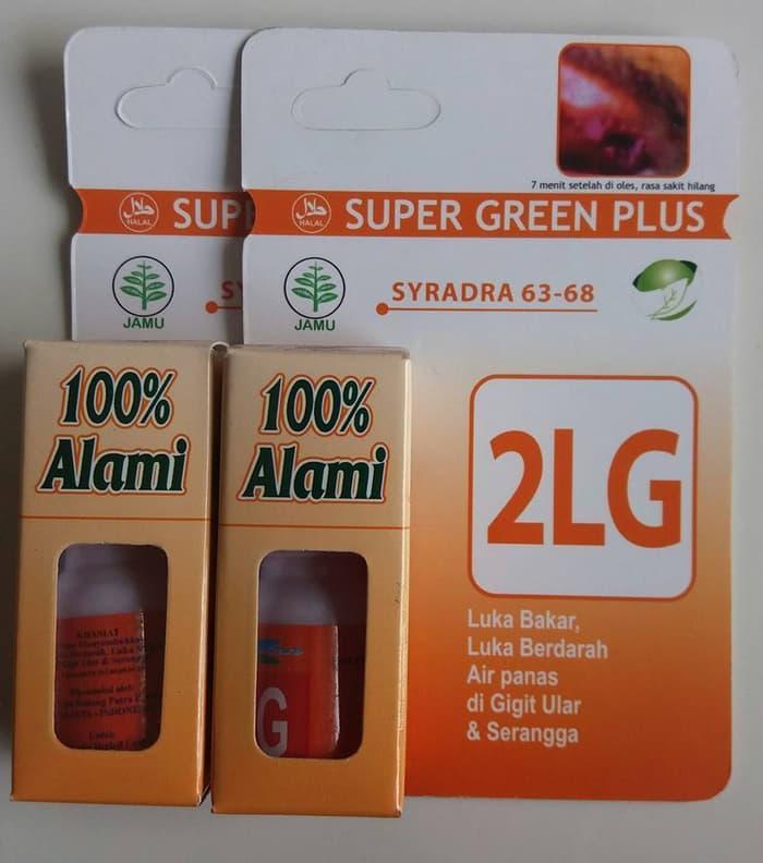 Super Green Plus 2LG ( luka bakar,di gigit ular,tersiram air panas)