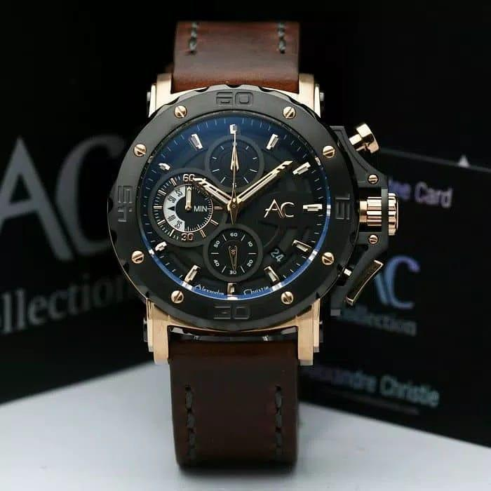 Alexandre Christie Collection Original - AC9205 - Jam Tangan Pria - Stainless Leather