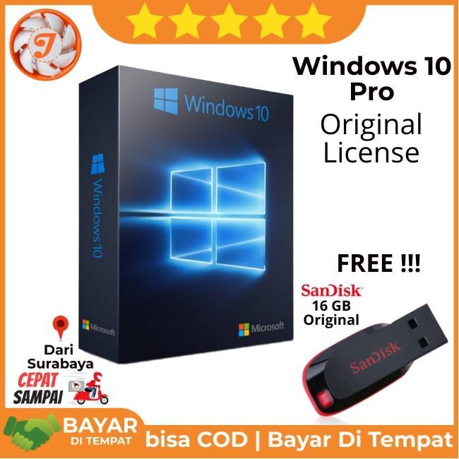 Jual Lisensi Windows 10 Pro Original - Bonus 16GB Sandisk Original - 1 PC bisa Re-Install