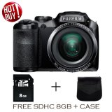 Fujifilm Finepix S4800 16Mp 30X Zoom Free 8Gb Sdhc Tas Hitam Original