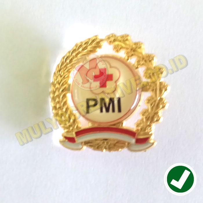 Pin PMI - Palang Merah Indonesia - Emblem PMI Model Padi dan Kapas - Logam / 3pcs