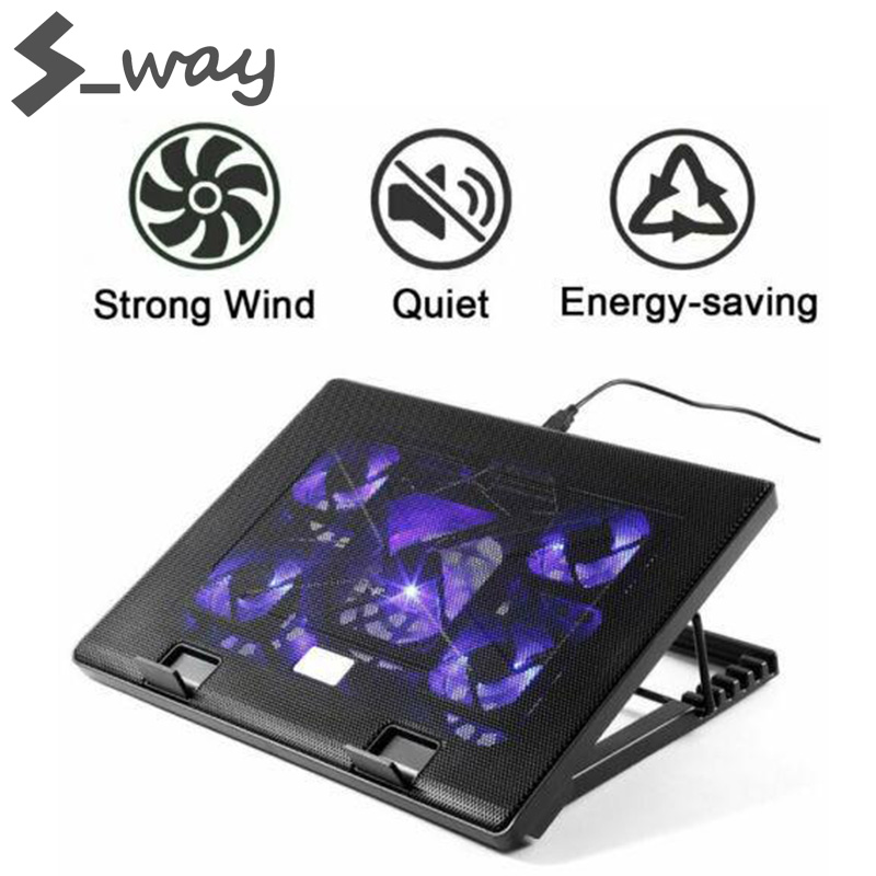 S_way Laptop Cooling Cooling Fans and Double USB Ports Laptop Cooler with Light LCD Display Notebook Stand Malaysia
