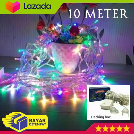 Lampu Natal Tumblr Warna Warni 10 Meter Panjang 10m Rainbow Murah Hias Lampu Dekorasi Unik Cahaya Warna Warni