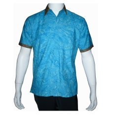 Ulasan Batik Solo Bo5014 Kemeja Batik Pria Motif Wonogiren Biru