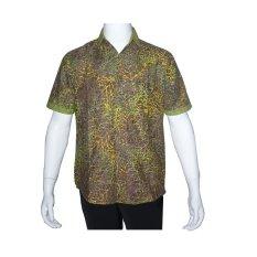 Spesifikasi Batik Solo Bo5017 Kemeja Batik Pria Motif Tulang Daun Hijau Tua Batik Solo