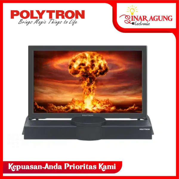 LED TV POLYTRON 24 B 8550 / 24B8550 + SOUND BAR HD TV [24 inch / USB MOVIE / HDMI]