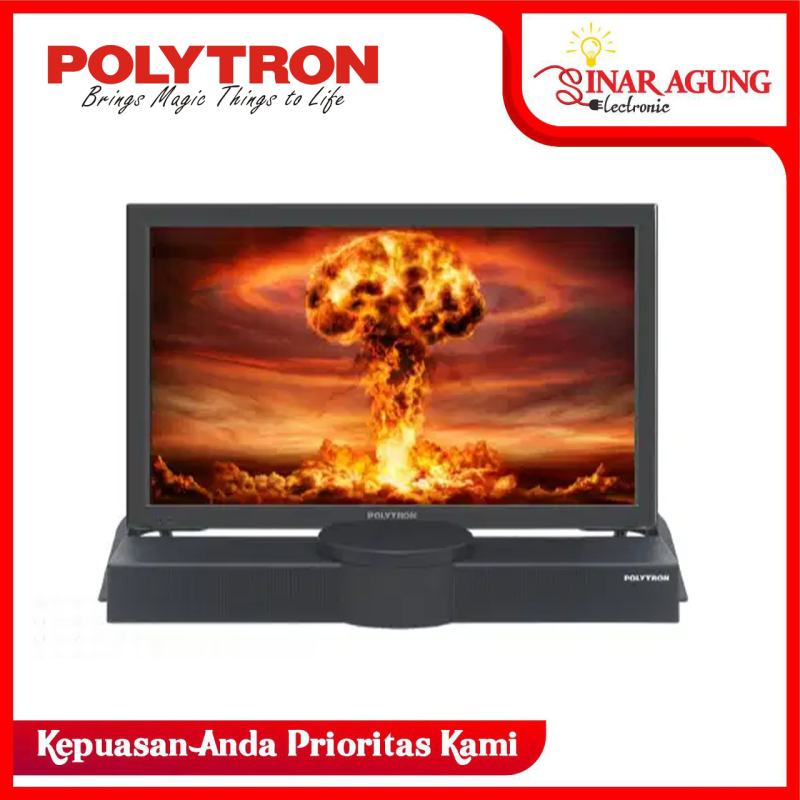 LED TV POLYTRON 24 B 8550 / 24B8550 + SOUND BAR HD TV [24 inch / USB MOVIE / HDMI]