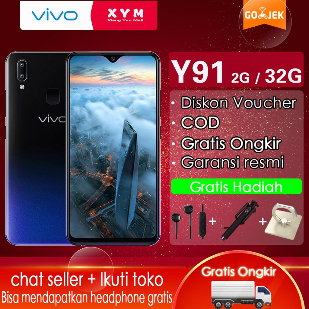 Vivo Y91 hp 2G/32G - COD, AI Dual Camera, Gratis Ongkir, 6.22inches, Ultra All Screen, Garansi resmi [ Please use the voucher ]