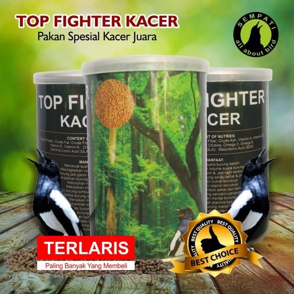 Top Fighter Kacer Sempati Pakan Lomba Burung Juara Berkicau Suara Gacor Rajin Bunyi Kristal