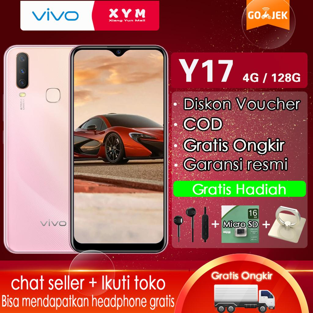 Vivo Y17 Hp 4G/128G - COD, Gratis Ongkir, AI Triple Camera, Fast Charging, Garansi Resmi【 Please use the voucher 】