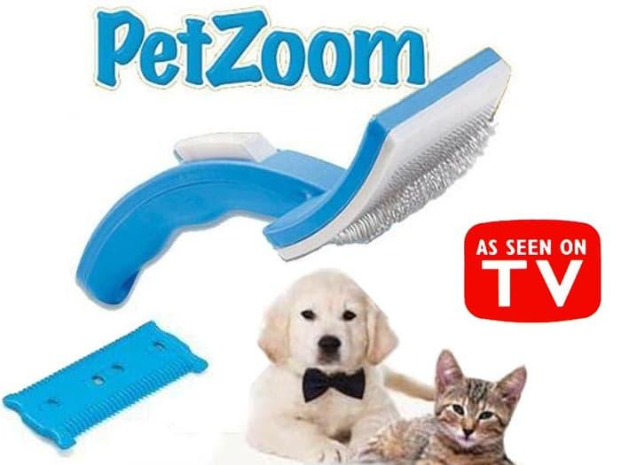 Pet Zoom Self Cleansing - Sisir Kucing Anjing By Grosirkemeja.