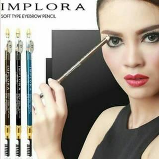 Pensil Alis Implora Tahan Cipratan Air Eyebrow Pencil BPOM 1
