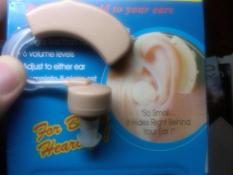 1 Set Alat Bantu Dengar Pendengaran + Volume + 3 Karet Plug u/ Telinga
