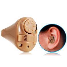 1 Set Super Kecil Mini Alat Bantu Dengar Pendengaran u/ telinga