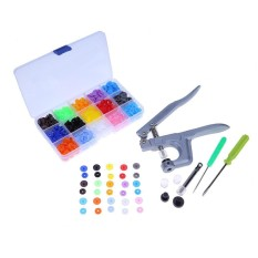 1 Set Logam Press Tang Alat Yang Digunakan untuk T3 T5 T8 Tombol Fastener Snap Tang  (Multicolor)-Intl (Multicolor)