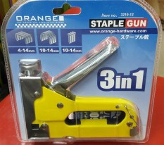 3 in 1 ORANGE Stapler Gun / Tembak Gun Tacker 4mm s/d 14mm