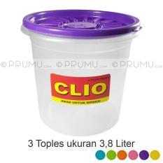 3 Toples Plastik 3-8 Liter  Tempat Kerupuk  Sealware Food Container - 65Ab7e