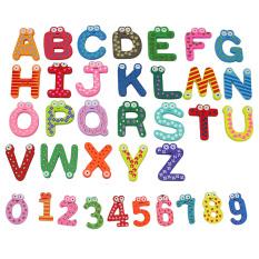36 X Jumlah Huruf Kayu Desain Kartun Kulkas Magnet Kulkas Mainan Anak-anak-Internasional