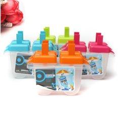4 Freezer Pop Lolly Ice Cream Cetakan Antislip Pembuat DIY Popsicle Yogurt Cetakan Baru-Intl