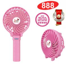 888 Kipas Mini Lipat Portable Handy Mini Fan Rechargeable + Baterai & Kabel Charger