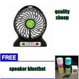 Harga Abadi Mini Kipas Angin Powerbank Senter Cas Baterai 18650 Free Speaker Bluethot Merk Mini