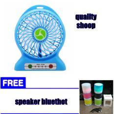 abadi Mini Kipas Angin + Powerbank + Senter Cas Baterai 18650 free speaker bluethot