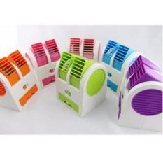 AC Duduk Double Mini Fan Portable Kipas Blower USB