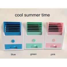 AC Duduk Mini Portable Fragrance Handy Cooler Bladeless Fan Kipas USB