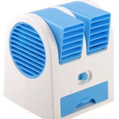 AC Mini Fan Portable USB Super Dingin - Biru