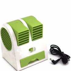 AC Mini Fan Portable USB Super Dingin - Hijau