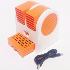 AC Mini Fan Portable USB Super Dingin - Orange
