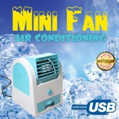 Ac Mini Usb Portable Double Blower / Kipas Angin / Ac Mini Fan