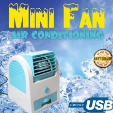 AC MINI USB PORTABLE DOUBLE BLOWER /KIPAS ANGIN/AC MINI FAN - RANDOM