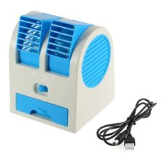 AC Portable Mini Duduk Double Fan / Mini Fan / Mini Ac Air conditioning USB