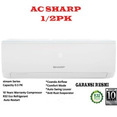 AC SPLIT SHARP AH-A5UCY 1/2PK- putih