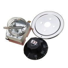AC220V 16 Amp Anti-memutar Termostat For Mengendalikan Suhu Oven Listrik Saklar 50-300 C Dial