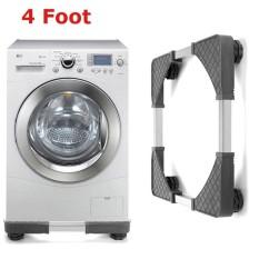 Adjustable Mesin Cuci Dasar Kulkas Undercarriage Bracket Stand (Empat Kaki)-Intl