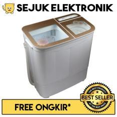 Akari AWM-88SK Mesin Cuci 2 Tabung Style Series - 6 Kg - PUTIH GOLD (JADETABEK ONLY)
