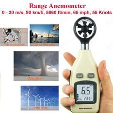 Alat Pengukur Kecepatan Angin PRO + Suhu C/F + Backlight + Lubang Mur