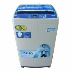 Aqua AQW97DH Mesin Cuci Top Loading - 9Kg Putih-Biru (FREE ONGKIR KHUSUS JAKARTA)
