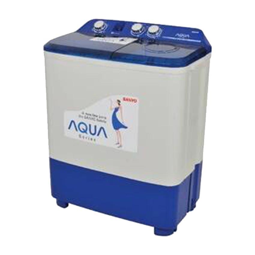 AQUA Mesin Cuci 2 Tabung Semi Automatic QW-771XT - Kapasitas 7 KG Gratis Pengiriman JABODETABEK dan Bandung