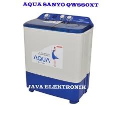 Aqua Mesin Cuci 2 Tabung QW880XT – Biru GARANSI MOTOR 5TAHUN