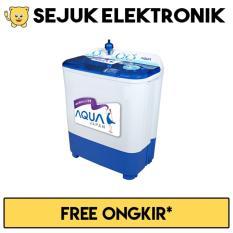 Aqua QW-740XT Mesin Cuci 2 Tabung - 7 Kg - Putih Biru (FREE ONGKIR KHUSUS JAKARTA)