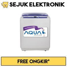 Aqua QW-89XTF Mesin Cuci Top Loading 8 Kg - Abu-abu (Khusus JADETABEK)