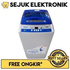 Aqua QW-99XTF Mesin Cuci Top Loading 9 Kg - Abu-abu (Khusus JADETABEK)