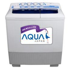 Aqua (Sanyo) QW-1280XT Mesin Cuci Twin Tub 12Kg - Khusus JABODETABEK