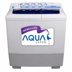 Aqua (sanyo) Qw-1280xt Mesin Cuci Twin Tub 12kg - Khusus Jabodetabek By Toko Bahagia Elektronika.
